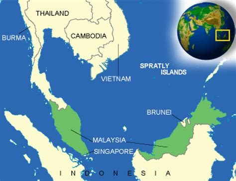 map  malaysia terrain area  outline maps
