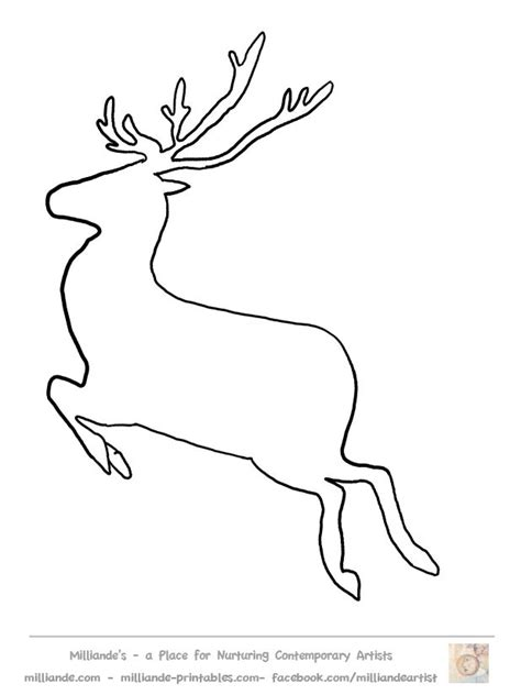 printable reindeer application 107 best images about stencils on pinterest clip art