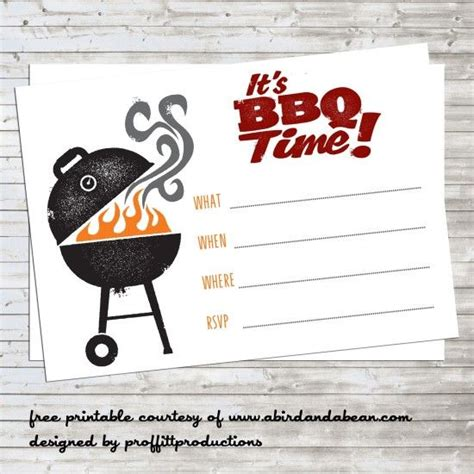 bbq invitation templates bbq invitation free printable templates and