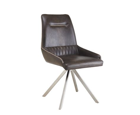 Leather swivel dining room chairs