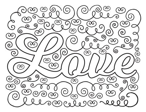 printable coloring pages love free i love you for adults coloring pages