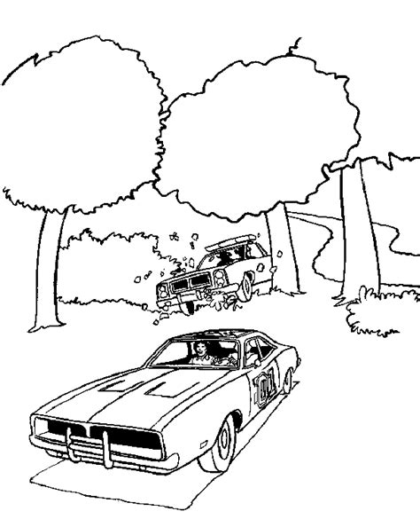 Dukes Of Hazzard Coloring Pages Coloringpages1001 Com General Car Coloring Pages