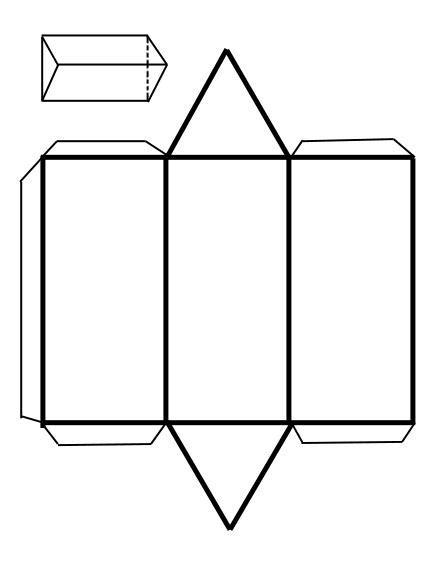 figuras geometricas triangulares recortables de figuras geom 233 tricas prisma triangular
