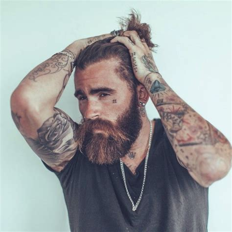 chris perceval full thick beard big mustache beards