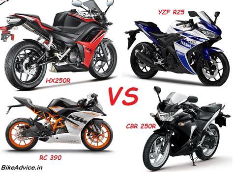 r25 vs rc390 vs cbr250r vs hx250r spec comparo single