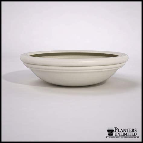 low bowl planters malibu modern low bowl fiberglass planters planters unlimited