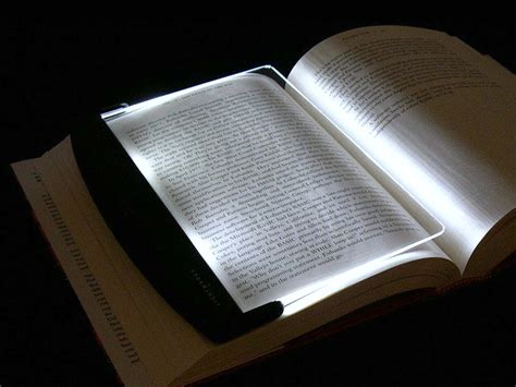 lightwedge led book light lights the page not the room