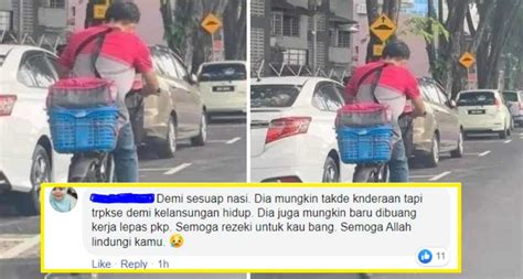 demi rezeki halal netizen terharu lihat kegigihan abang