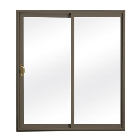 Sliding Glass Patio Doors With Screen Shop Reliabilt 300 Series 70 75 In Clear Glass Vinyl Sliding Patio Door With Screen At Lowes