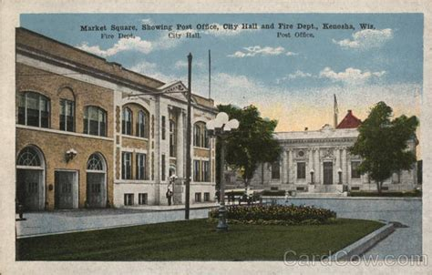 market square showing post office city and dept