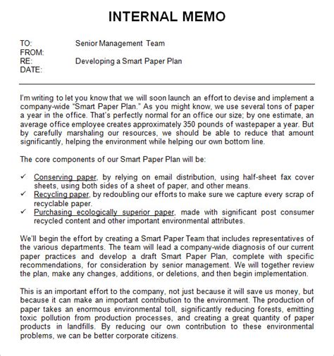 Memo Format Bullet Points Sle Memo Template 12 Free Documents In Pdf Word