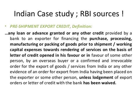 Letter Of Credit Rbi Types Of Letter Of Credits On 11 09 2012