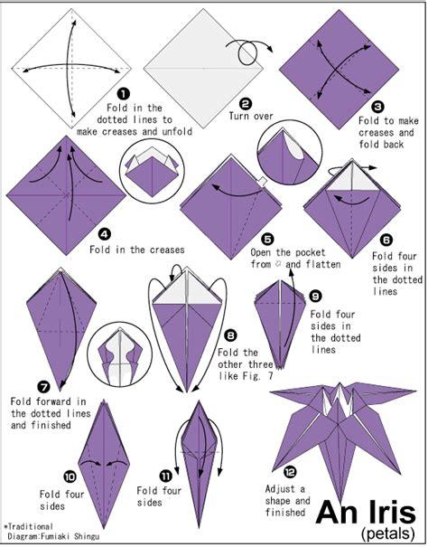 tutorial origami manusia tips membuat origami bunga iris cara mudah membuat origami