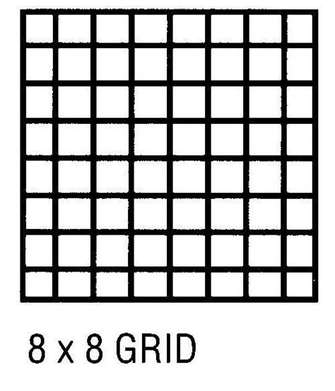 Printable 8x8 Grid 24 x 36 vellum 10 sheet pack 8x8 grid artist supply source