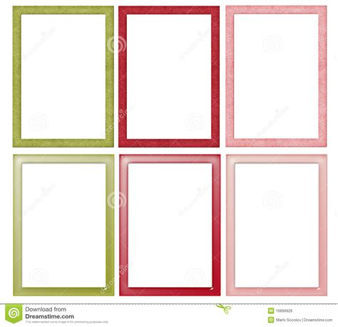 Simple Christmas Colored Frames Stock Illustration Six Color Print L