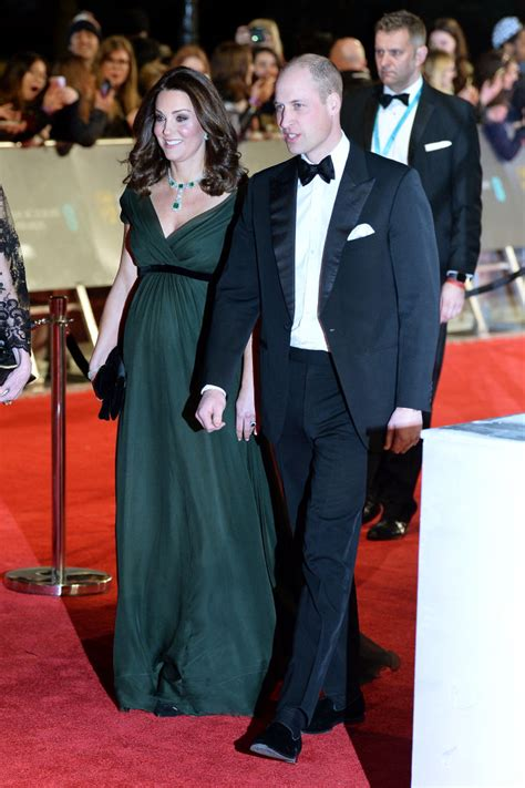 prince william and kate middleton at the bafta awards 2018 the pregnant duchess kate middleton prince william at