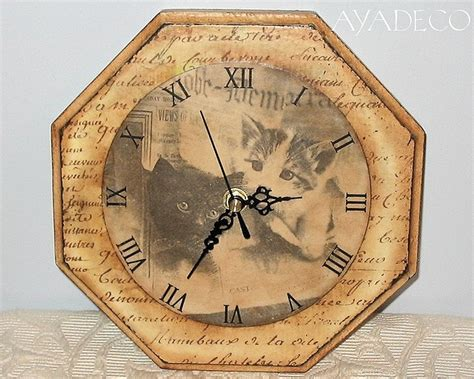 Decoupage Clock - 24 best images about klokken on shabby chic