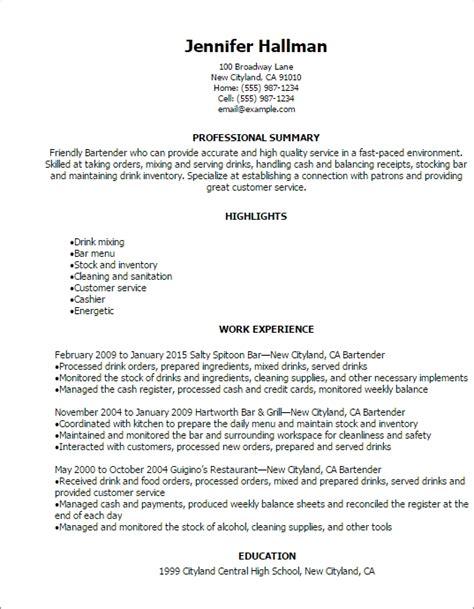 Resume Sample Extracurricular Activities by Great Bartender Resume Best Resume Gallery
