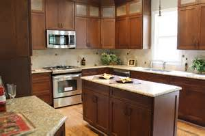 Kitchen Knobs For Cabinets Cherry With Custom Stain
