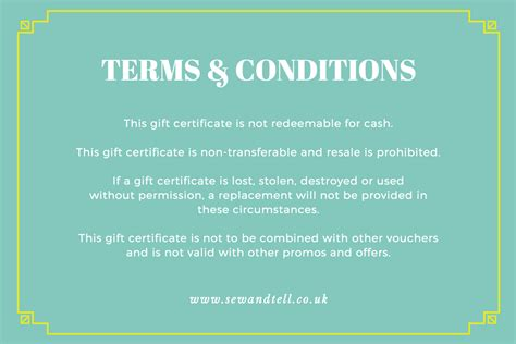 Gift Certificate Terms And Conditions Template by Win Shoppers With A Charming Gift Certificate