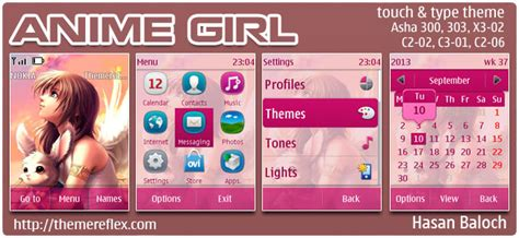 nokia girl themes com anime wallpapers themereflex