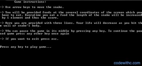 c tutorial snake game mini project in c snake game code with c