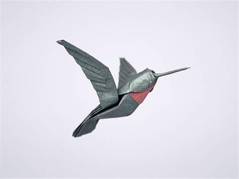 Hummingbird Origami - origami hummingbird 2016