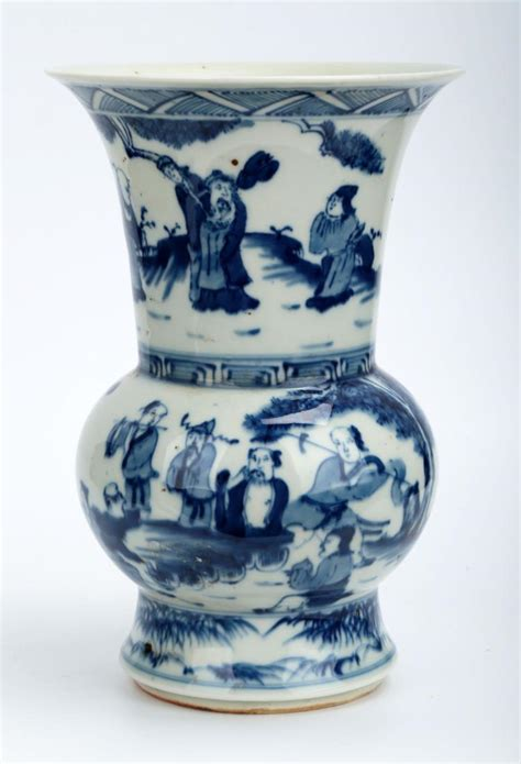 white porcelain l base a blue and white porcelain zhadou the base marked with