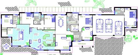 Bath Floor Plans 5 Or 6 Bedroom Home Design With Granny Flat Home Builders