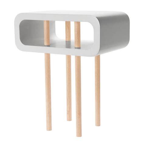 Grey Side Table Leitmotiv Open Minded Side Table Light Grey Black By Design