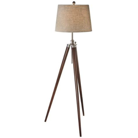63 style silver and brown wooden tripod