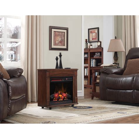 rolling electric fireplace rolling mantel infrared quartz electric fireplace meridian
