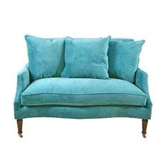 turquoise settee 1000 images about turquoise on pinterest velvet sofas