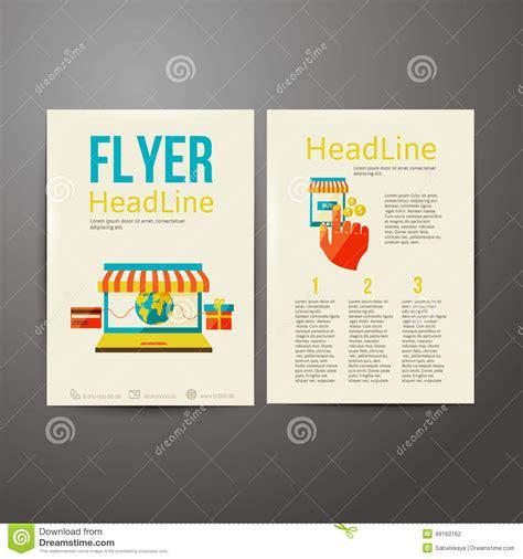 online flyer design abstract brochure flyer design online payment stock
