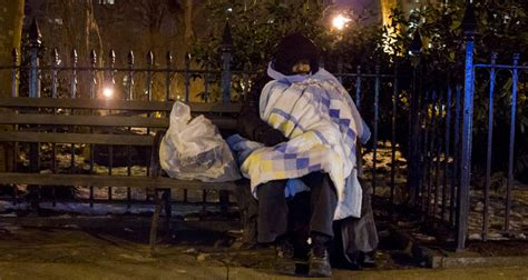 bench outreach bench outreach counting the homeless on a frigid night no