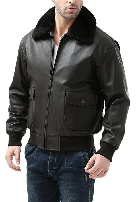 Jacket Bomber Premium Navy landing leathers s premium navy g 1 goatskin leather flight bomber luxury