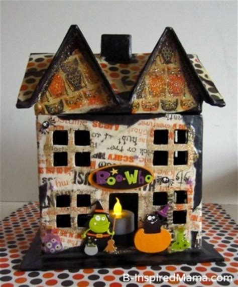 How To Make A Paper Haunted House - make a haunted house family crafts