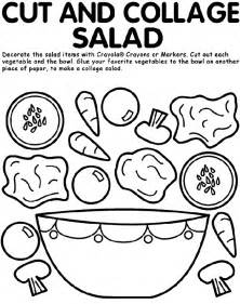 Cut And Collage Salad Coloring Page sketch template
