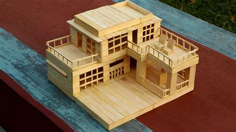 create house how to make a modern popsicle sticks house