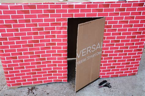 How To Make A Door Out Of Paper - how to make a fantastic playhouse out of a cardboard box