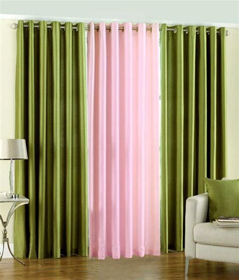 green baby curtains pindia set of 3pc plain eyelet window curtains green
