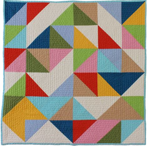 abstract quilt pattern organic cotton baby quilt handcrafted in north carolina
