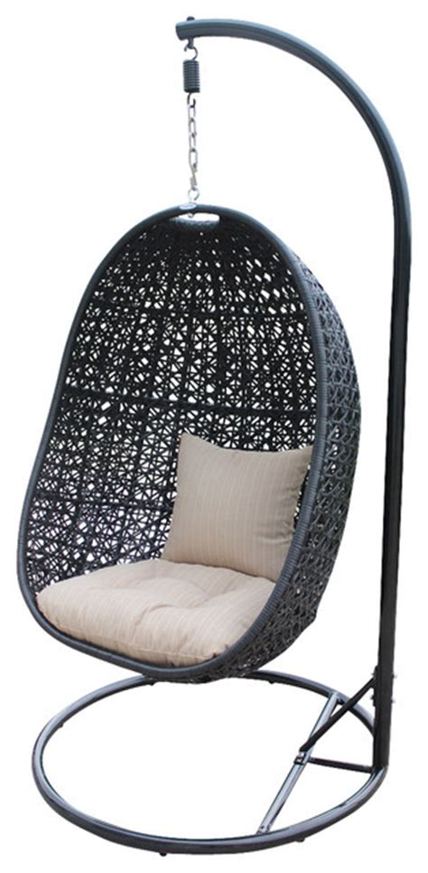 modern swing chair nimbus modern outdoor hanging basket chair with stone