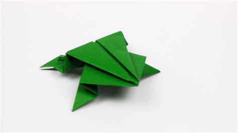Origami Frog That Jumps - origami jumping frog