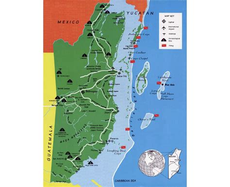 tourist map of belize maps of belize detailed map of belize in