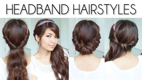 how to give myself the best hairstyle with a widows peak for easy everyday headband hairstyles for short and long hair tutorial youtube