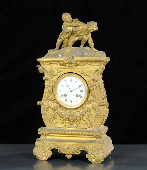 pendole da tavolo orologio a pendolo da tavolo in bronzo dorato guibal