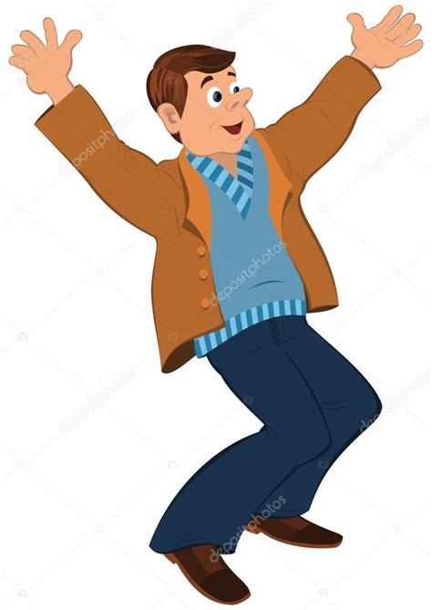 imagenes animadas hombres hombre de dibujos animados en su 233 ter azul y chaqueta