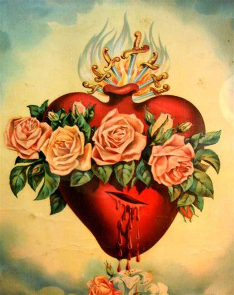tattoo sagrado coração de jesus e maria o imaculado cora 231 227 o de maria est 225 abrasado em chamas de