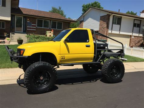 yellow toyota truck yellow toyota 4x4 rock crawler for sale in denver